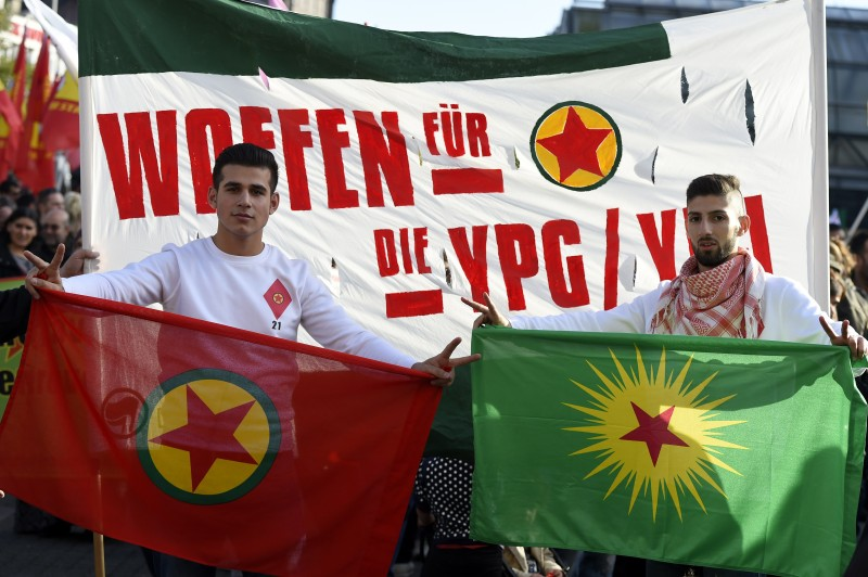 GERMANY-SYRIA-CONFLICT-TURKEY-PROTEST-KURDS-DEMO