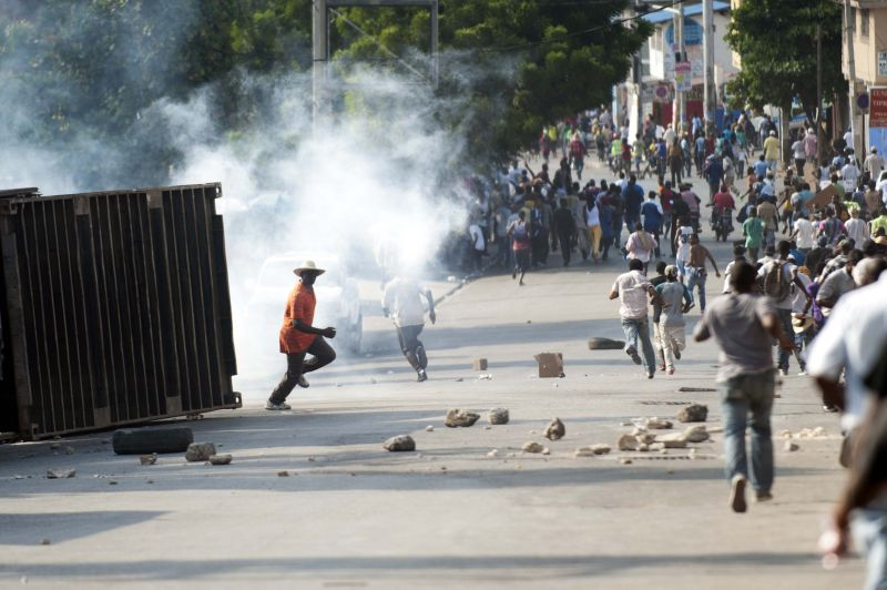 HAITI-POLITICS-MARTELLY-PROTEST
