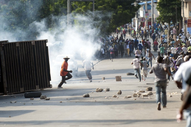 HAITI-POLITICS-MARTELLY-PROTEST
