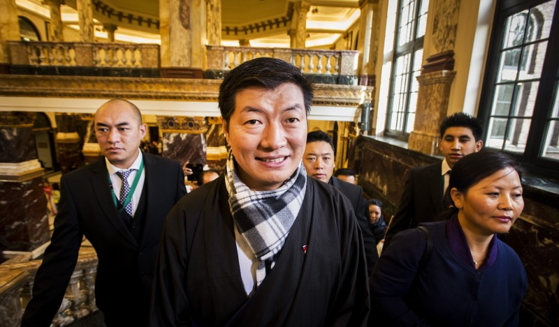 NETHERLANDS-CHINA-TIBET-POLITICS-SANGAY