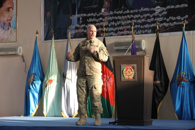 'Afghanistan needs military leaders of courage, competence and character'