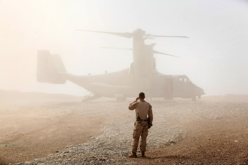 Panetta Visits Military Bases In Afghanistan
