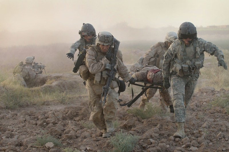 Army Medevac Unit Tends To The War Wounded Near Marja, Afghanistan
