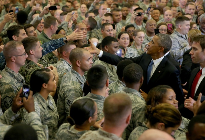 President Obama Speaks At U.S. Central Command At Macdill Air Force Base