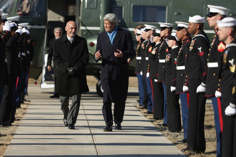 Secretary Of State John Kerry Hosts Afghan Presidential Delegation At Camp David For Diplomatic Talks