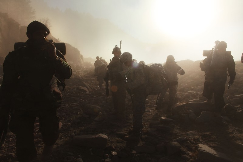 US Army Conducts Air Assault On Afghan Town