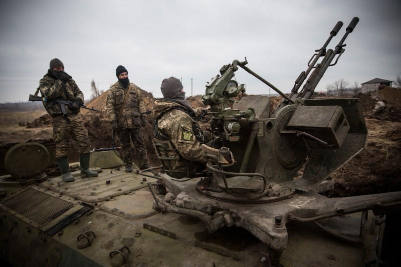 Ukrainian Soldiers Prepare To Defend Territory Against Russian Separatists