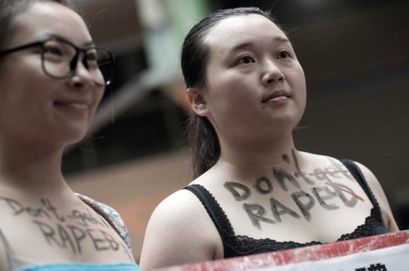 HONG KONG-SLUT WALK-CHINA-DEMOCRACY-POLITICS