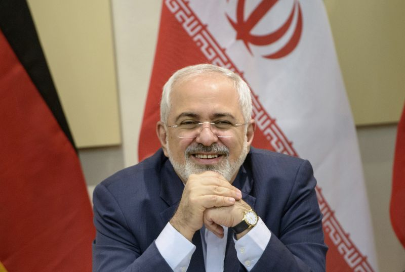 Iranian Foreign Minister Mohammad Javad Zarif as he waits for the start of a meeting with P5+1, European Union, and Iranian officials at the Beau Rivage Palace Hotel in Lausanne, Switzerland, on March 30, 2015, during Iran nuclear talks. (Brendan Smialowski/AFP/Getty Images)