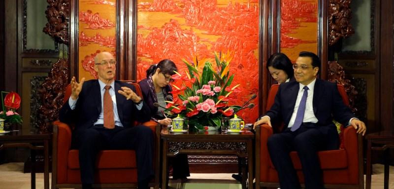 Former U.S. Treasury Secretary Henry Paulson Visits Beijing