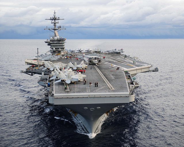 American warships including the USS Theodore Roosevelt are making for the Yemeni coast.