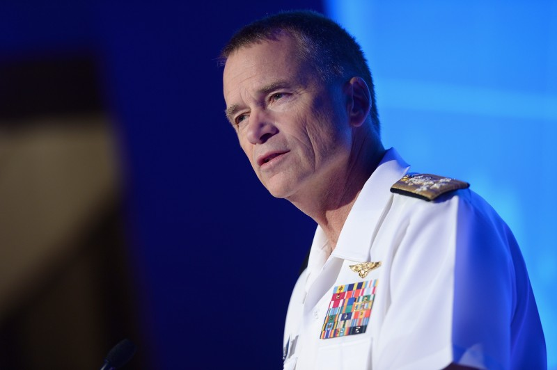 NEW YORK, NY - SEPTEMBER 29:  Vice Chairman of the Joint Chiefs of Staff, Admiral James A. Winnefeld, speaks onstage at the 2014 Concordia Summit - Day 1 at Grand Hyatt New York on September 29, 2014 in New York City.  (Photo by Leigh Vogel/Getty Images for Concordia Summit)