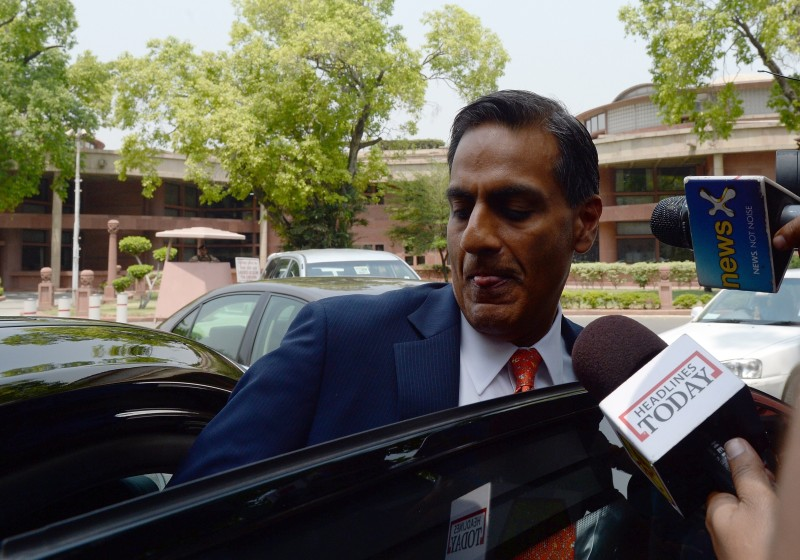 US Ambassador to India Richard Rahul Verma leaves the Indian Parliament in New Delhi on May 6, 2015. AFP PHOTO/PRAKASH SINGH        (Photo credit should read PRAKASH SINGH/AFP/Getty Images)