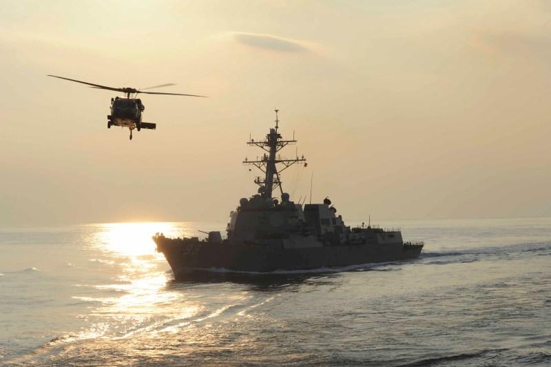USS Farragut underway in the Arabian Sea.