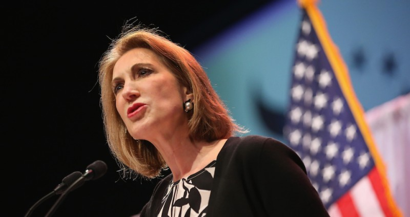 WAUKEE, IA - APRIL 25:  Former business executive Carly Fiorina speaks to guests gathered at the Point of Grace Church for the Iowa Faith and Freedom Coalition 2015 Spring Kickoff on April 25, 2015 in Waukee, Iowa. The Iowa Faith & Freedom Coalition, a conservative Christian organization, hosted 9 potential contenders for the 2016 Republican presidential nominations at the event.  (Photo by Scott Olson/Getty Images)