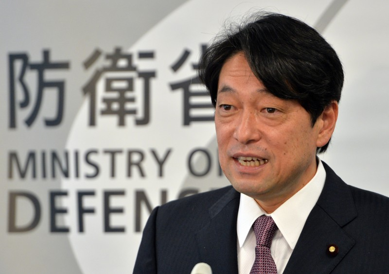 Japanese Defense Minister Itsunori Onodera speaks to the press at his office in Tokyo on December 17, 2013. Japan said it intends to boost military spending by five percent over the next five years, with a hardware splurge intended to beef up defence of far-flung territories amid a corrosive row with China.  AFP PHOTO / Yoshikazu TSUNO        (Photo credit should read YOSHIKAZU TSUNO/AFP/Getty Images)