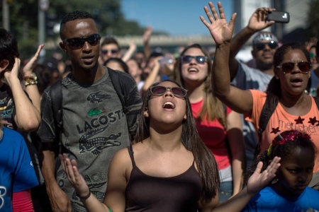 """Thousands Participate In """"March For Jesus"""" In Sao Paulo, Brazil"""