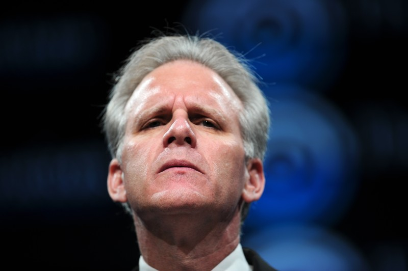 Israeli Ambassador to the US Michael Oren addresses the opening of the three-day General Assembly of the Jewish Federations of North America in Washington on November 8, 2009.           AFP PHOTO/Nicholas KAMM (Photo credit should read NICHOLAS KAMM/AFP/Getty Images)