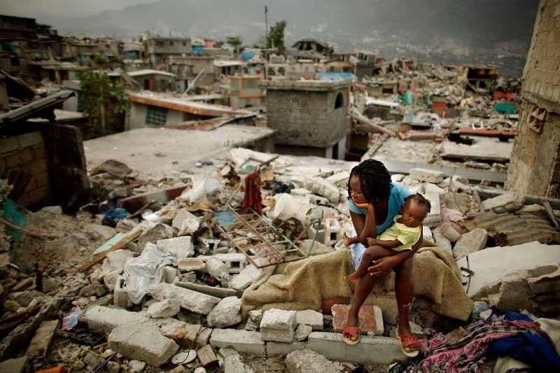 <> on February 26, 2010 in Port-au-Prince, Haiti.