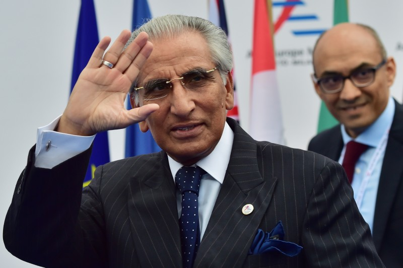 Special assistant to Prime Minister, Syed Tariq Fatemi, arrives to attend the 10th Asia-Europe Meeting (ASEM) on October 16, 2014 in Milan. The Asia-Europe Meeting (ASEM) was created in 1996 as a forum for dialogue and cooperation between Europe and Asia held every two years alternatively in Asia and Europe.  AFP PHOTO / GIUSEPPE CACACE        (Photo credit should read GIUSEPPE CACACE/AFP/Getty Images)