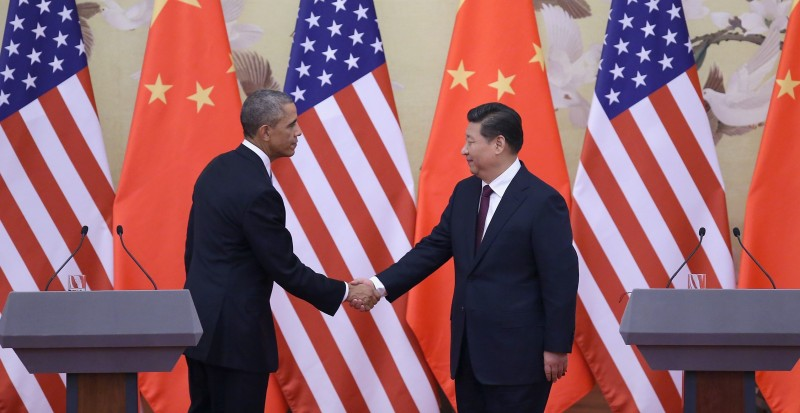 U.S. President Barack Obama pays a state visit to China after attending the 22nd Asia-Pacific Economic Cooperation (APEC) Economic Leaders' Meeting.