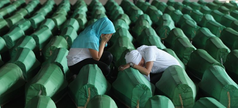 <> on July 10, 2011 in Potocari, Bosnia and Herzegovina.