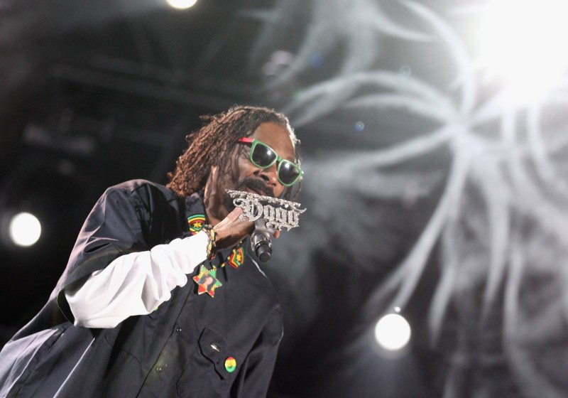 INDIO, CA - APRIL 15:  Rapper Snoop Dogg performs onstage during day 3 of the 2012 Coachella Valley Music & Arts Festival at the Empire Polo Field on April 15, 2012 in Indio, California.  (Photo by Christopher Polk/Getty Images for Coachella)