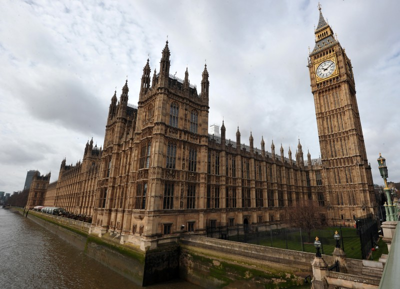 A picture shows the Houses of Parliament in Westminster, central London, on April 16, 2013, a day before the ceremonial funeral for former British prime minister Margaret Thatcher. The Iron Lady will be given a send-off full of pomp and ceremony involving 700 members of the armed forces, gunfire salutes and 2,000 guests at St Paul's Cathedral in London on April 17.  AFP PHOTO/CARL COURT        (Photo credit should read CARL COURT/AFP/Getty Images)