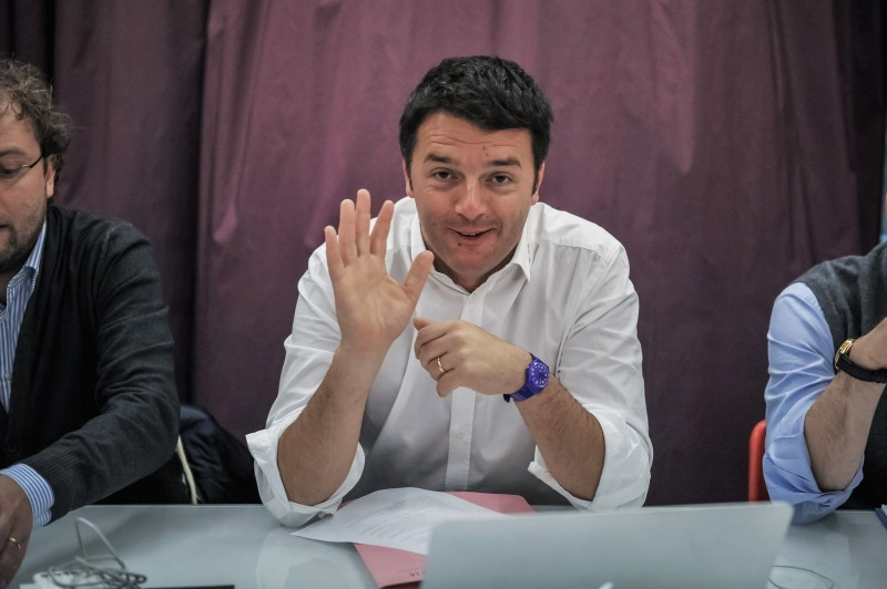 FLORENCE, ITALY - JANUARY 04: Mayor of Florence and leader of the Democratic Party (PD) Matteo Renzi attends the First PD Secretariat Meeting on January 4, 2014 in Florence, Italy. Matteo Renzi who won the PD primary elections with 68% of votes last December wants to give a new direction to Italian politics. (Photo by Laura Lezza/Getty Images)