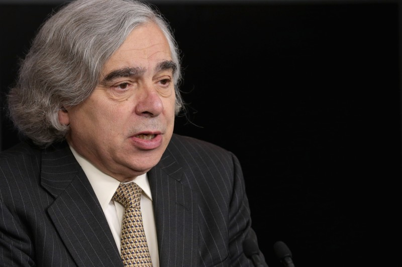 WASHINGTON, DC - APRIL 06:  U.S. Energy Secretary Ernest Moniz briefs reporters about how the recent international agreement that will eliminate Iran's pathways to making a nuclear weapon in the Brady Press Briefing Room at the White House April 6, 2015 in Washington, DC. Moniz was part of the United States' team of negotiators that worked out the agreement between Iran and the five permanent members of the UN Security Council and Germany.  (Photo by Chip Somodevilla/Getty Images)