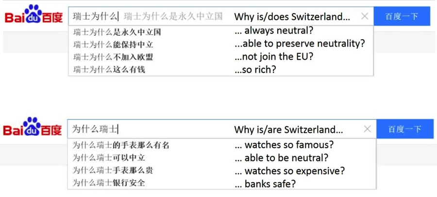 Baidu Autocomplete Europe