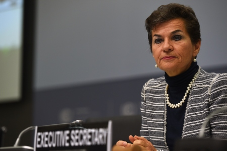 Christiana Figueres, Executive Secretary of the United Nations Framework Convention on Climate Change (UNFCCC), attends the United Nations Framework Convention on Climate Change (UNFCCC) opening ceremony in Bonn, western Germany on June 1, 2015. The convention takes place at the new Bonn conference centrum from June 1 until June 11, 2015. AFP PHOTO / PATRIK STOLLARZ (Photo credit should read PATRIK STOLLARZ/AFP/Getty Images)