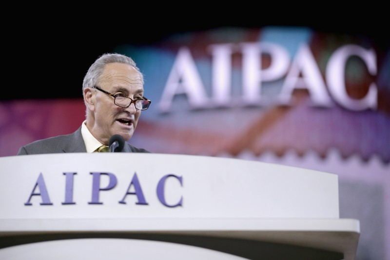 WASHINGTON, DC - MARCH 03:  U.S. Sen. Charles Schumer (D-NY) delivers remarks during the American Israel Public Affairs Committee's Policy Conference at the Walter Washington Convention Center March 3, 2014 in Washington, DC. Secretary of State John Kerry is scheduled to address AIPAC and then leave directly from the conference to travel to Kiev to meet with members of Ukraine's new government.  (Photo by Chip Somodevilla/Getty Images)
