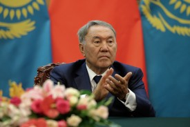 BEIJING, CHINA - AUGUST 31:  Kazakhstan President Nursultan Nazarbayev attend the signing ceremony at the Great Hall of the People on August 31, 2015 in Beijing, China. Kazakhstan President Nursultan Nazarbayev will attend the September 3, 2015 Chinese People's Anti-Japanese War and the World Anti-Fascist War 70th anniversary victory parade.  (Photo by Lintao Zhang/Pool/Getty Images)