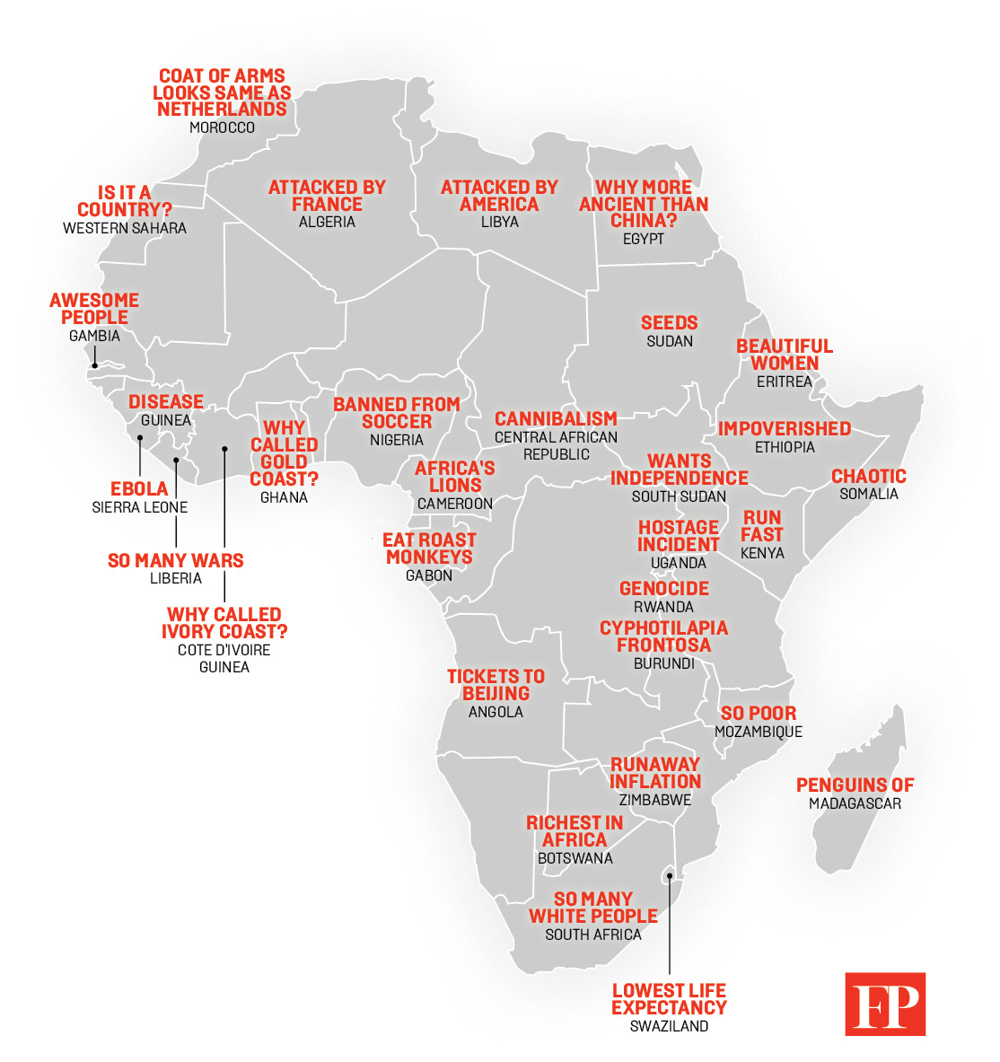 Map Of Africa Madagascar.Map China S Stereotypes Of Africa From Chaotic Somalia To