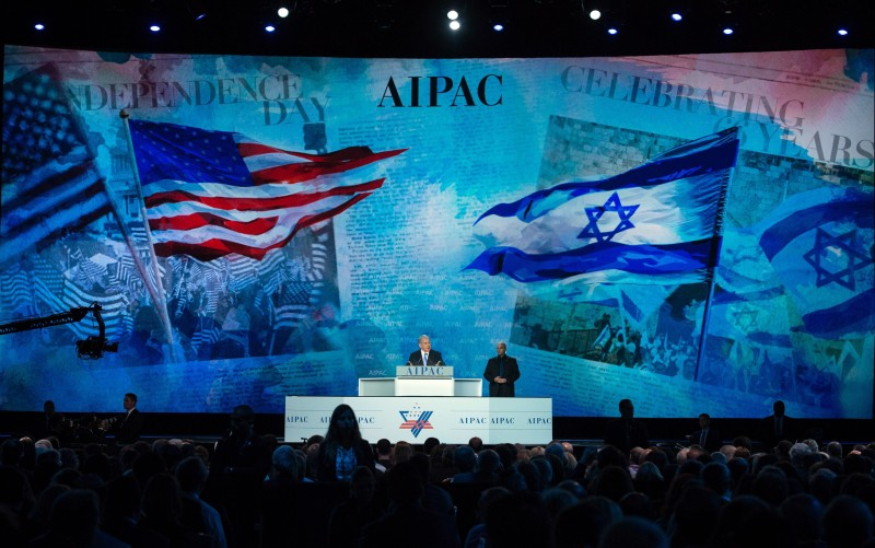 Israeli Prime Minister Benjamin Netanyahu addresses the American Israel Public Affairs Committee (AIPAC) policy conference inb Washington, DC, on March 2, 2015. Netanyahu is ramping up his mission to foil an emerging White House-backed nuclear deal with Iran with the speech to the powerful pro-Israel AIPAC lobby.   AFP PHOTO/NICHOLAS KAMM        (Photo credit should read NICHOLAS KAMM/AFP/Getty Images)