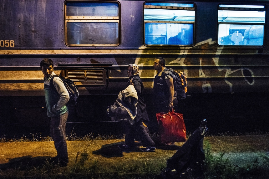 Migrants leave a  train at a railway station on  the Tabanovce border crossing between Macedonia and Serbia, on July 1, 2015, on her way north to European countries. Peter Sutherland, the UN Secretary General's special representative on international migration, bemoaned on June 26th the EU leaders' failure to approve a plan to share a total of 60,000 would-be refugees, mainly from Syria and Eritrea, across the 28-nation bloc. More than 100,000 migrants have crossed the Mediterranean so far this year, most of them landing in Italy, Greece and Malta who say their EU partners should share more of the burden.  AFP PHOTO / DIMITAR DILKOFF        (Photo credit should read DIMITAR DILKOFF/AFP/Getty Images)