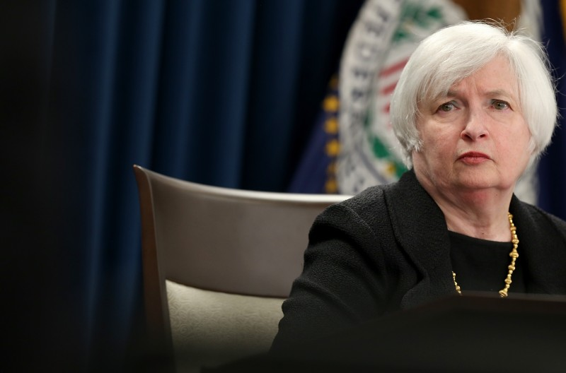 WASHINGTON, DC - SEPTEMBER 17:  Federal Reserve Board Chairwoman Janet Yellen answers questions at a news conference following a Federal Open Market Committee meeting September 17, 2015 in Washington, DC. The committee reaffirmed its view that the current target range for the federal funds rate remains appropriate and that interest rates will remain unchanged.  (Photo by Win McNamee/Getty Images)