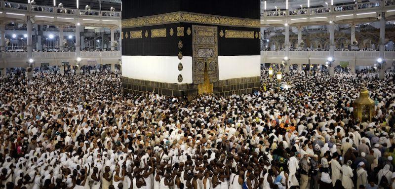 Pilgrims in Mecca on Sept. 20.