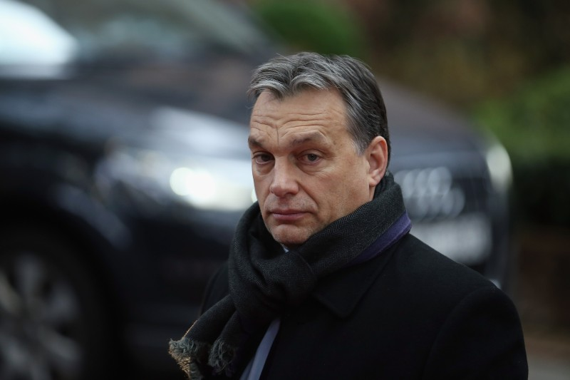 BRUSSELS, BELGIUM - FEBRUARY 08:  Hungarian Prime Minister Viktor Orban arrives at the  headquarters of the Council of the European Union on February 8, 2013 in Brussels, Belgium. EU leaders have set out the framework for agreeing on a 2014-2020 EU budget during talks that continued through the night at the European Council Meetings in Brussels. The historic deal would see 34.4 billion Euros of EU spending cuts over the next 7 year period.  (Photo by Dan Kitwood/Getty Images)
