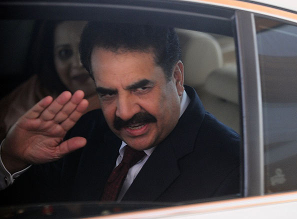 Pakistan Army Chief of Staff General Raheel Sharif gestures after arriving at Bandaranaike International Airport in Katunayake near Colombo on June 5, 2015. General Sharif is on a four-day official visit to Sri Lanka.  AFP PHOTO / ISHARA S. KODIKARA        (Photo credit should read Ishara S.KODIKARA/AFP/Getty Images)