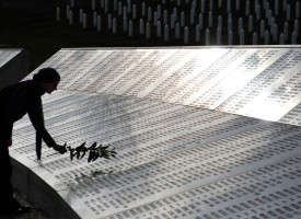 A Bosnian Muslim woman, survivor of Srebrenica atrocities in 1995, Sehida Abdurahmanovic, arrives at Potocari memorial cemetery, near Srebrenica, on March 31, 2010, to visit graves and pay her respects to relatives, victims of the Bosnian-Serb ofensive in July 1995. Serbia's Srebrenica apology on Wednesday March 31 met with bitterness and cynicism in Bosnia where Muslim survivors of the massacre slammed Belgrade for dodging the term genocide and Bosnian Serbs felt betrayed. AFP PHOTO / ELVIS BARUKCIC (Photo credit should read ELVIS BARUKCIC/AFP/Getty Images)