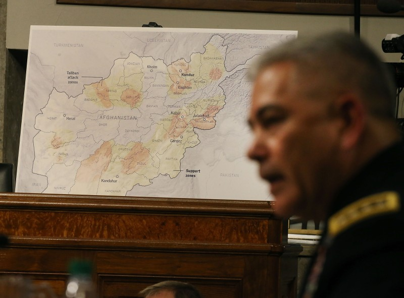 WASHINGTON, DC - OCTOBER 06:  US Army Gen. John Campbell commander of the Resolute Support Mission and United States Force Afghanistan, testifies during a Senate Armed Services Committee hearing on Capitol Hill September 6, 2015 in Washington, DC. The committee questioned Campbell on the situation in Afghanistan and last weeks US airstrike on a hospital run by Doctors Without Borders that killed at least 22 people.  (Photo by Mark Wilson/Getty Images)