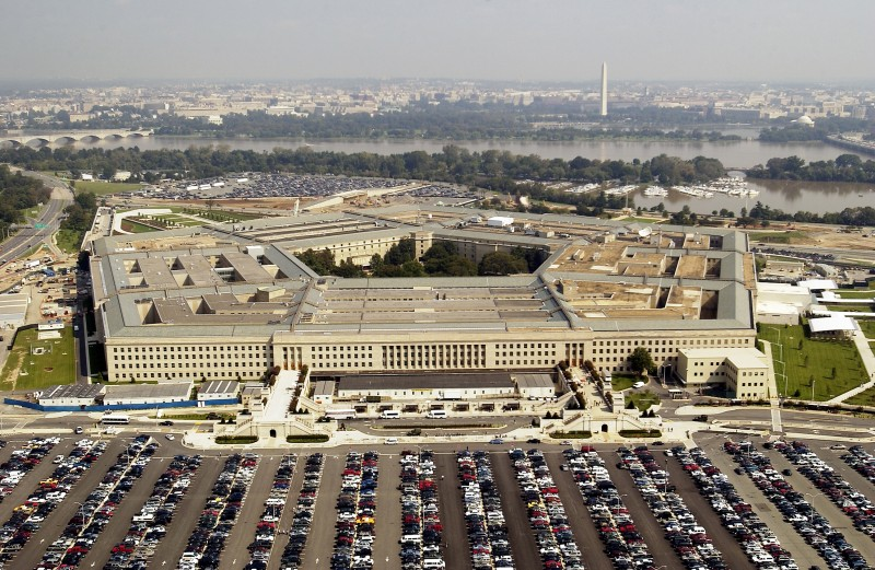 ARLINGTON, VA - SEPTEMBER 26:  Aerial photo of the Pentagon in Arlington, Virgina on September 26, 2003.  (Photo by Andy Dunaway/USAF via Getty Images)