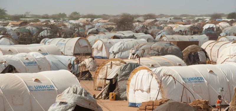 Tents fill the outskirts of Dagahaley refugee camp in Kenya's Dadaab refugee complex on July 24, 2011. The United Nations refugee agency estimates Dadaab is receiving 1,300 new arrivals each day, adding to the numbers in the already drastically overpopulated camp. Dadaab was opened twenty years ago, with a capacity of 90,000 people. Current estimates place the refugee population here at around 380,000 people. The European Union aid commissioner vowed yesterday to do all that is possible to help 12 million people struggling from extreme drought across the Horn of Africa, boosting aid by 27.8 million euros ($40 million). AFP PHOTO/PHIL MOORE (Photo credit should read PHIL MOORE/AFP/Getty Images)