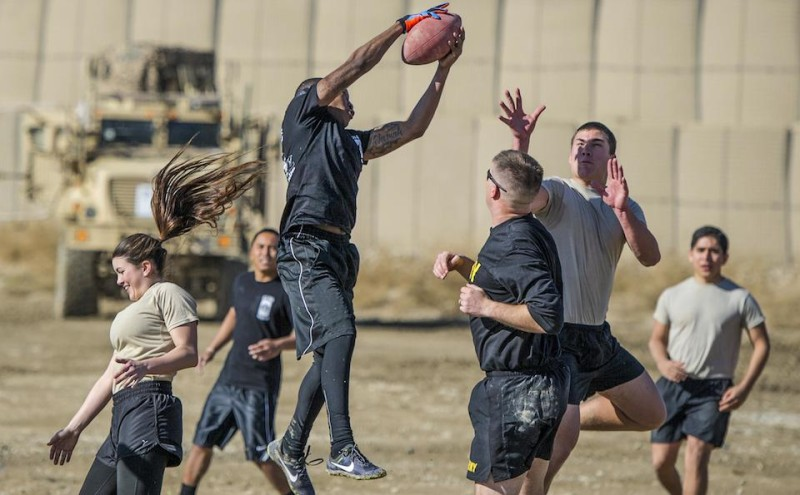 Florida Army, Air Force National Guard kick off Thanksgiving with 'Turkey Bowl'