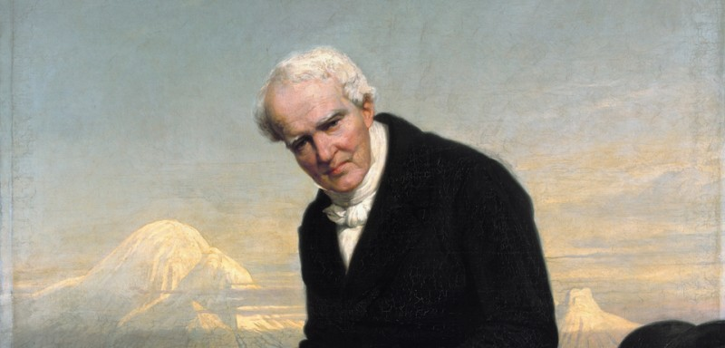 Baron Alexander von Humboldt (1769–1859)  *oil on canvas  *158.8 x 138.1 cm  *signed b.r.:  Julius Schrader. 1859