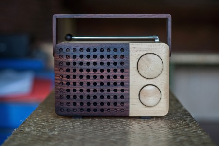 TEMANGGUNG, CENTRAL JAVA, INDONESIA - JULY 11: The front view of the wooden radio is seen on display at the Piranti Works workshop on July 11, 2013 in Temanggung, Central Java, Indonesia. Radio Magno, the wooden radio, is produced by local carpenters at a small company named Piranti Works, founded by Singgih Kartono who is also the designer of the product. (Photo by Putu Sayoga/Getty Images)