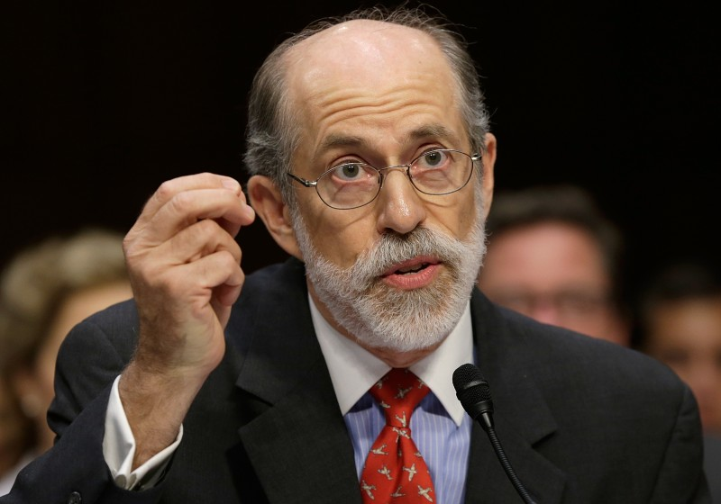 "WASHINGTON, DC - JULY 24:  Frank Gaffney, founder and president of the Center for Security Policy, testifies during a hearing of the Senate Judiciary Committee July 24, 2013 in Washington, DC. The committee heard testimony from the panelists on ""Closing Guantanamo: The National Security, Fiscal, and Human Rights Implications.""  (Photo by Win McNamee/Getty Images)"