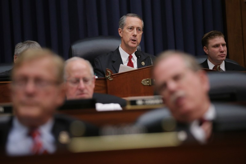 WASHINGTON, DC - DECEMBER 01:   House Armed Services Committee Chairman Mac Thornberry (R-TX) (C) delivers opening remarks during a hearing in the Rayburn House Office Building on Capitol Hill December 1, 2015 in Washington, DC. Defense Secretary Ashton Carter and Chairman of the Joint Chiefs of Staff Gen. Joseph Dunford Jr. testified before the committee about the U.S. strategy to combat the self-proclaimed Islamic State, or ISIS, in Syria and Iraq and its implications for the greater Middle East.  (Photo by Chip Somodevilla/Getty Images)